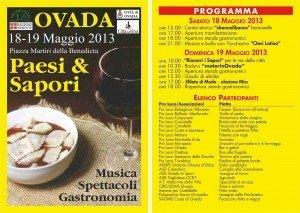 paesi e sapori 2013 programma