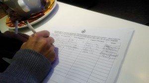 le firme raccolte....