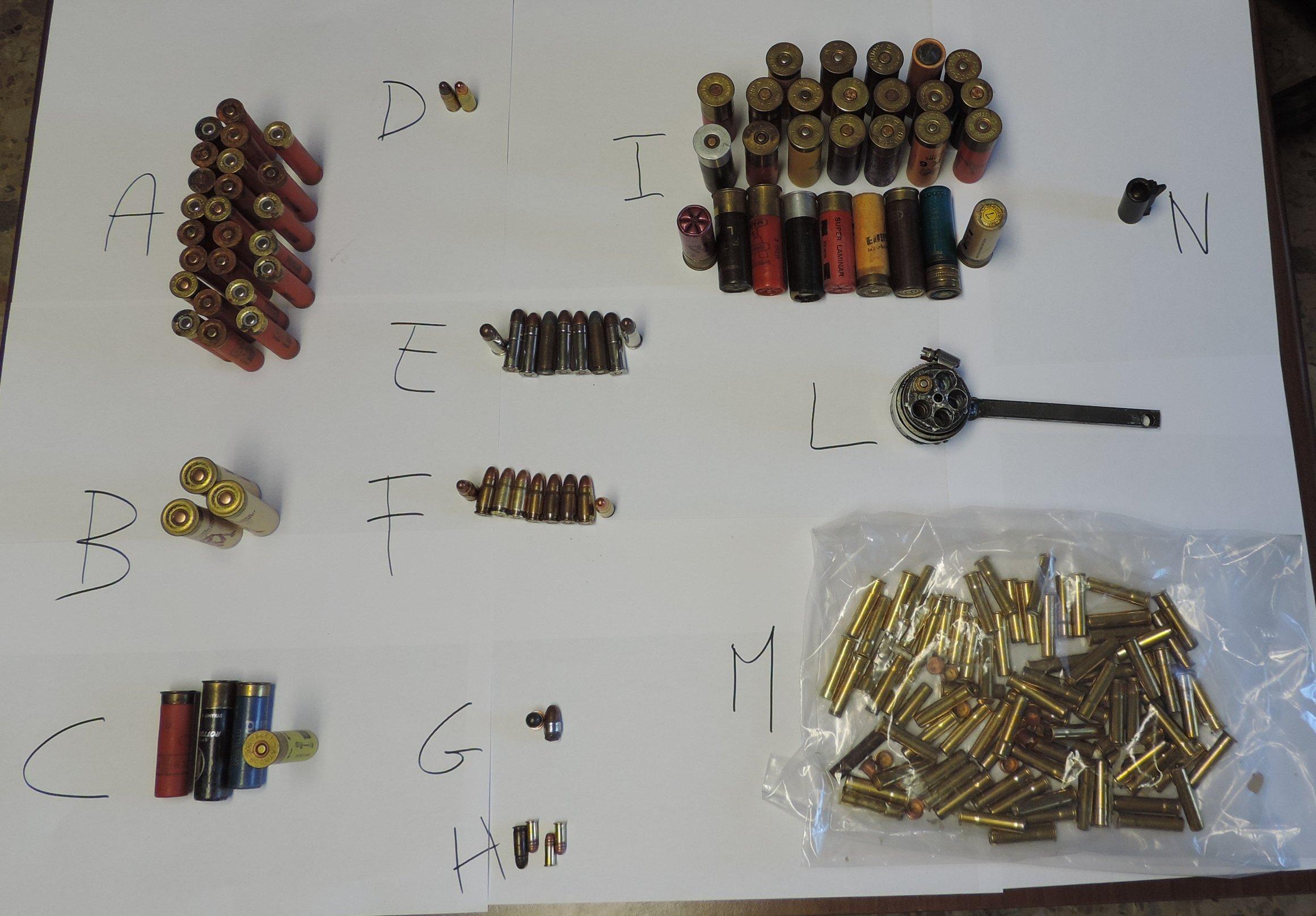 Foto munizioni e parti arma