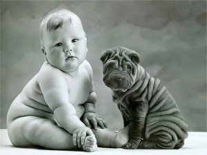 cute_baby_and_dog
