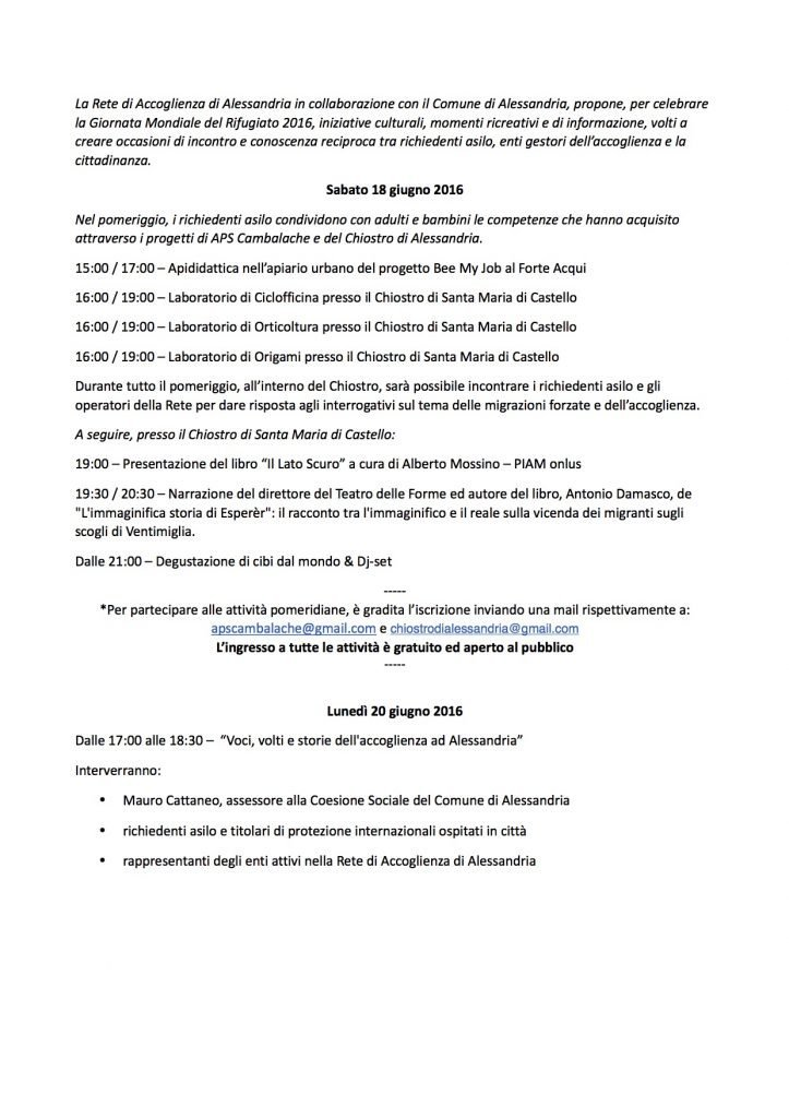 GMR 2016 - Programma