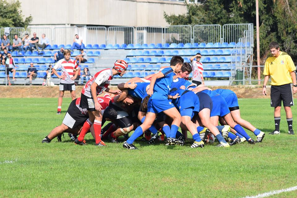 Under 16 Monferrato Rugby in mischia contro CUS Torino