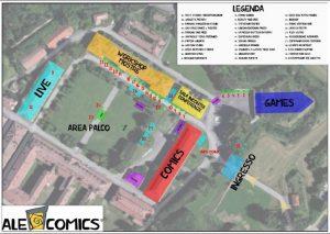 ALEcomics 2016 mappa