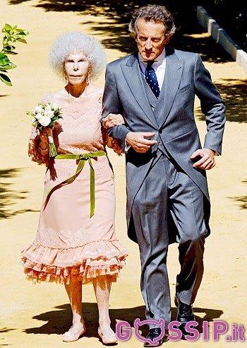 La Duchessa d'Alba si sposa per la terza volta - www